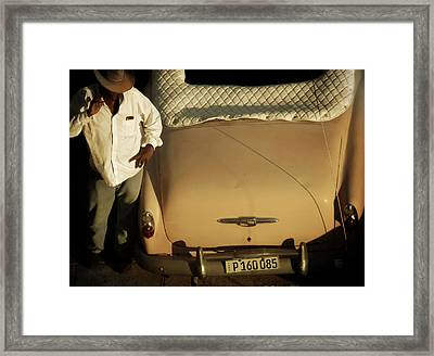 Waiting Framed Print by Connie Handscomb