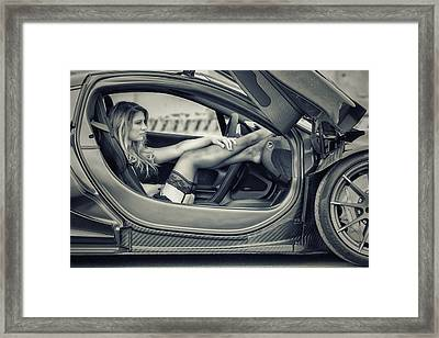 Waiting For A Driver Framed Print by ItzKirb Photography