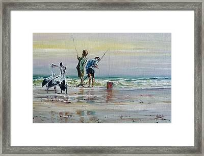 Waiting For A Feed Framed Print by Diko