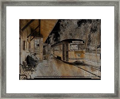 Waiting For A Train Framed Print by Robert Ball
