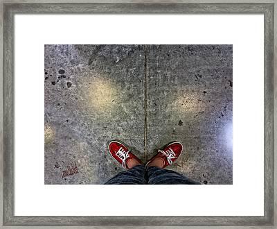 Waiting For Clown School Framed Print by Donna Blackhall