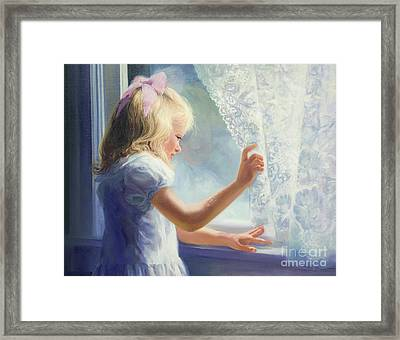 Waiting For Grandma Framed Print by Laurie Hein