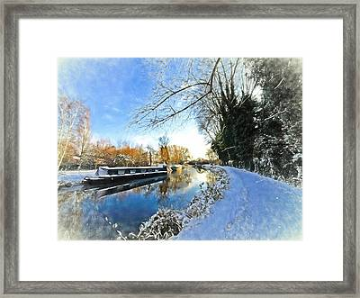 Waiting For Spring - Impressions Framed Print by Gill Billington