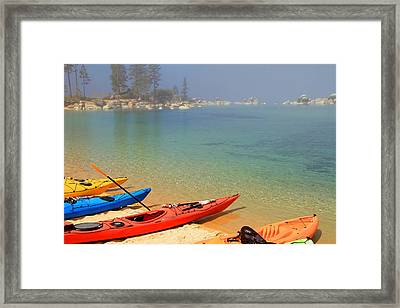 Waiting For The Fog To Lift Framed Print by Donna Kennedy