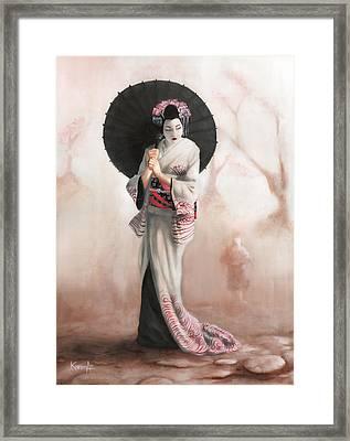 Waiting For The Rain Framed Print by Karen Acevedo