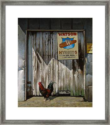 Waiting For Watson Framed Print by Doug Strickland