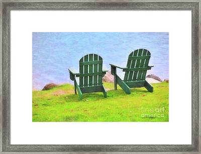Waiting For You Framed Print by Betty LaRue