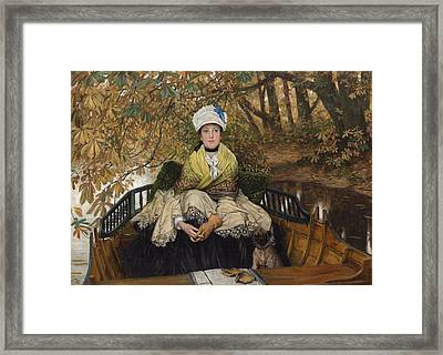 Waiting Framed Print by James Jacques Joseph Tissot
