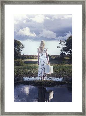 Waiting On An Island Framed Print by Joana Kruse