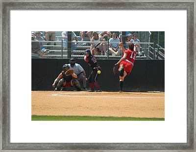 Waiting On The Ball Framed Print by Mike Martin