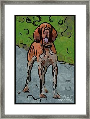 Waiting Patiently Over Here Framed Print by Omaste Witkowski