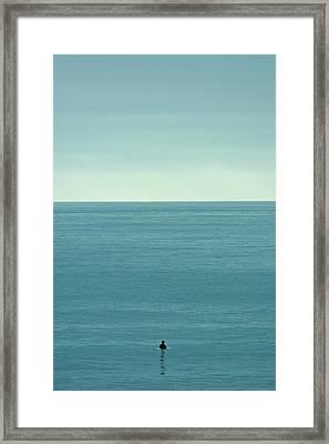 Waiting Framed Print by Peter Tellone