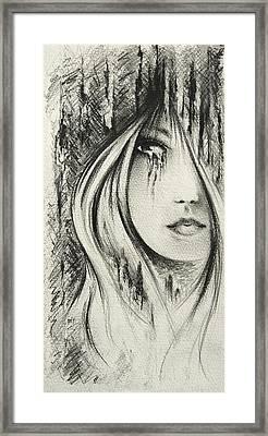 Waiting Framed Print by Rachel Christine Nowicki