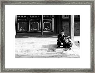 Waiting Framed Print by Sebastian Musial
