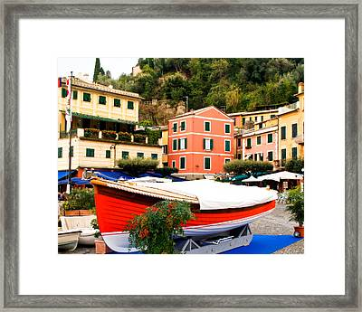 Waiting To Launch Framed Print by Carl Jackson