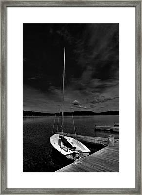 Waiting To Sail On Fourth Lake Framed Print by David Patterson