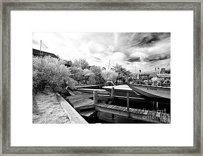 Waiting To Start The Day In Infrared Framed Print by John Rizzuto