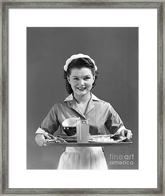 Waitress, C.1940s Framed Print by H. Armstrong Roberts/ClassicStock