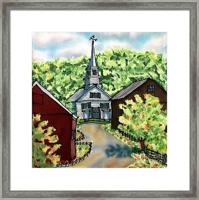Waits River Church Framed Print by Linda Marcille