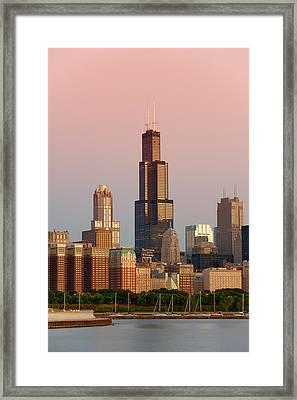 Wake Up Chicago Framed Print by Sebastian Musial