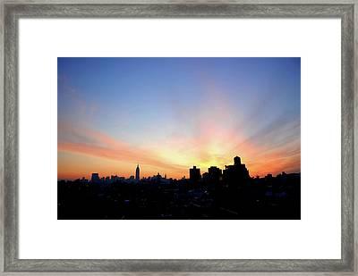 Wake Up New York Framed Print by Robert DeMarco