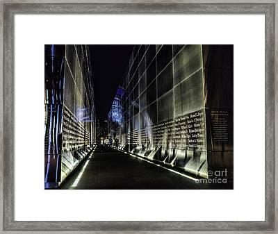 Walking Thru Empty Skies Framed Print by Nick Zelinsky