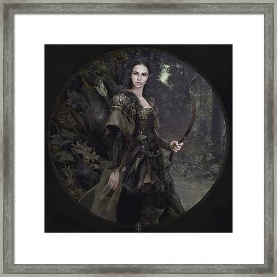 Waldelfe Framed Print by Eve Ventrue