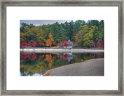Walden Pond Bath House Concord Ma Beach Framed Print by Toby McGuire