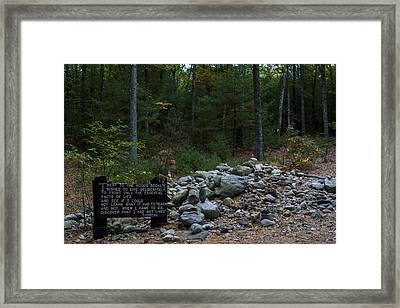 Walden Pond House Site Concord Ma Framed Print by Toby McGuire