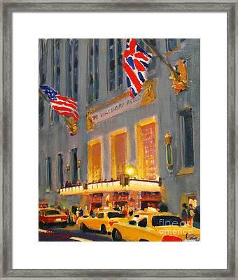 Waldorf-astoria Framed Print by Vladimir Kozma
