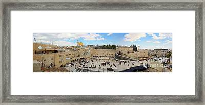 Haram Al Sharif / Temple Mount Panorama - Israel / Palestine Framed Print by Wietse Michiels
