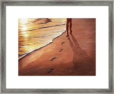 Walk Beside Me Framed Print by Cliff Hawley