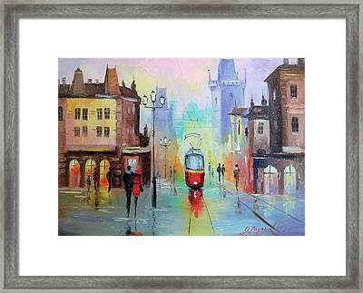 Walk In Prague Framed Print by Olha Darchuk