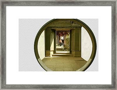 Walk Into The Light - Yuyuan Garden Shanghai China Framed Print by Christine Till