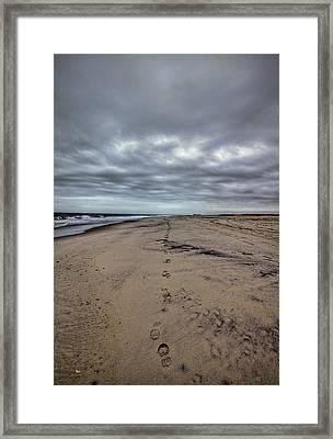 Walk The Line Framed Print by Evelina Kremsdorf
