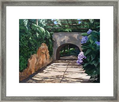 Walk With Me Framed Print by Suzanne Schaefer