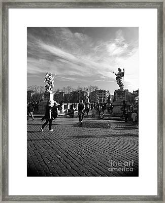 Walking Around Rome Framed Print by Stefano Senise