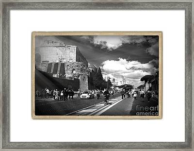 Walking Around The City Of Rome 2 Framed Print by Stefano Senise