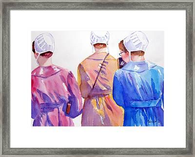 Walking By Faith Framed Print by Marsha Elliott