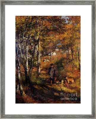 Walking His Dogs Framed Print by Renoir