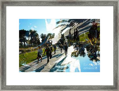 Walking In Espace Messina Nice Framed Print by Thomas Carroll