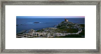 Walking Path And Fence Leading To Rose Framed Print by Panoramic Images