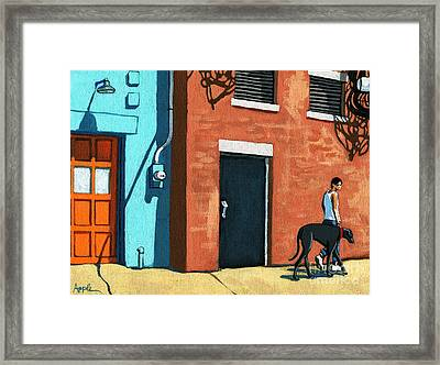 Walking Tall Framed Print by Linda Apple