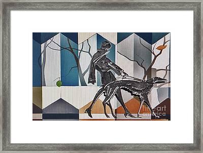 Walking The Dog Framed Print by Jerry L Barrett