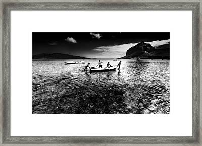 Walking The Dog Framed Print by Julian Cook