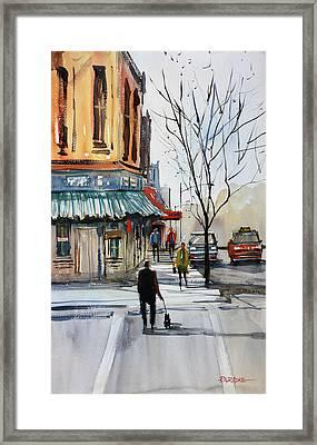 Walking The Dog Framed Print by Ryan Radke