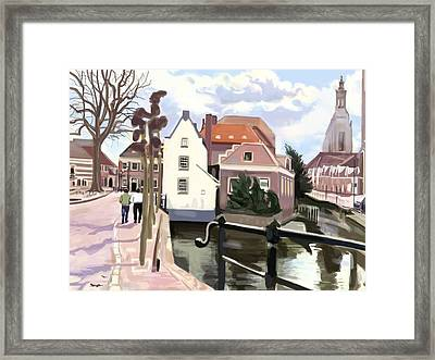 Walking Through Amersfoort Framed Print by Plum Ovelgonne