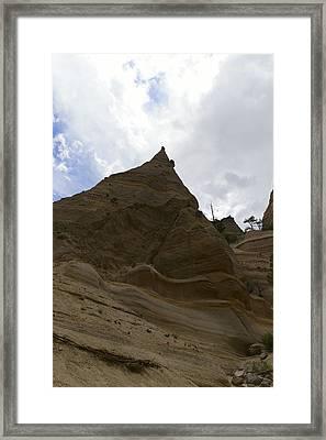 Walking Through The Tent Rocks Framed Print by Jeff Swan