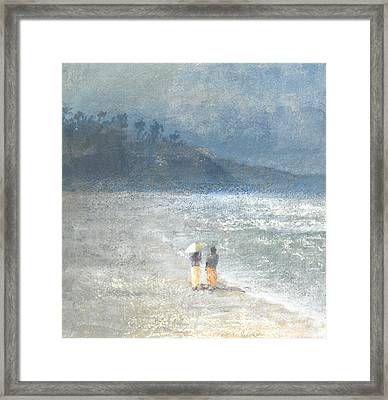 Walking To Work Framed Print by Lincoln Seligman