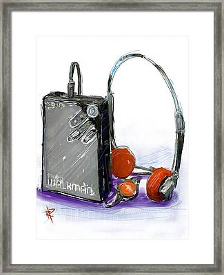 Walkman Framed Print by Russell Pierce